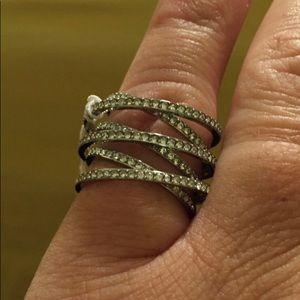 Michael Kors Silver Crisscross Ring